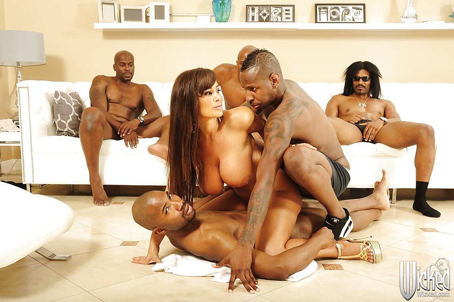 Gangbang interracial Lisa Ann Wicked 12