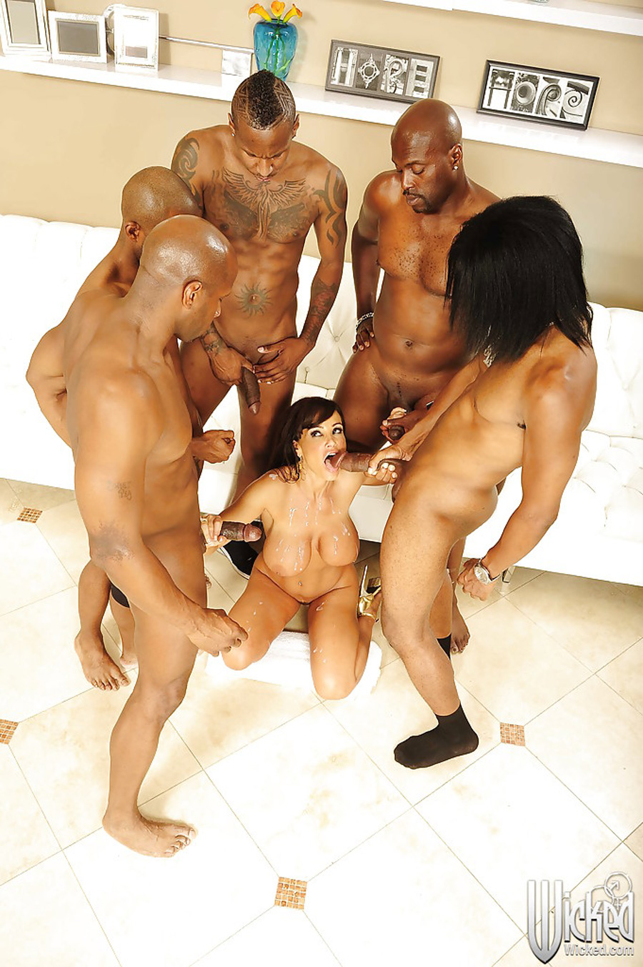 Gangbang interracial Lisa Ann Wicked 13
